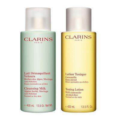 Reinigung im Set für normale und trockene Haut