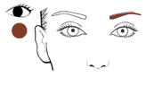Augenbrauen Mine