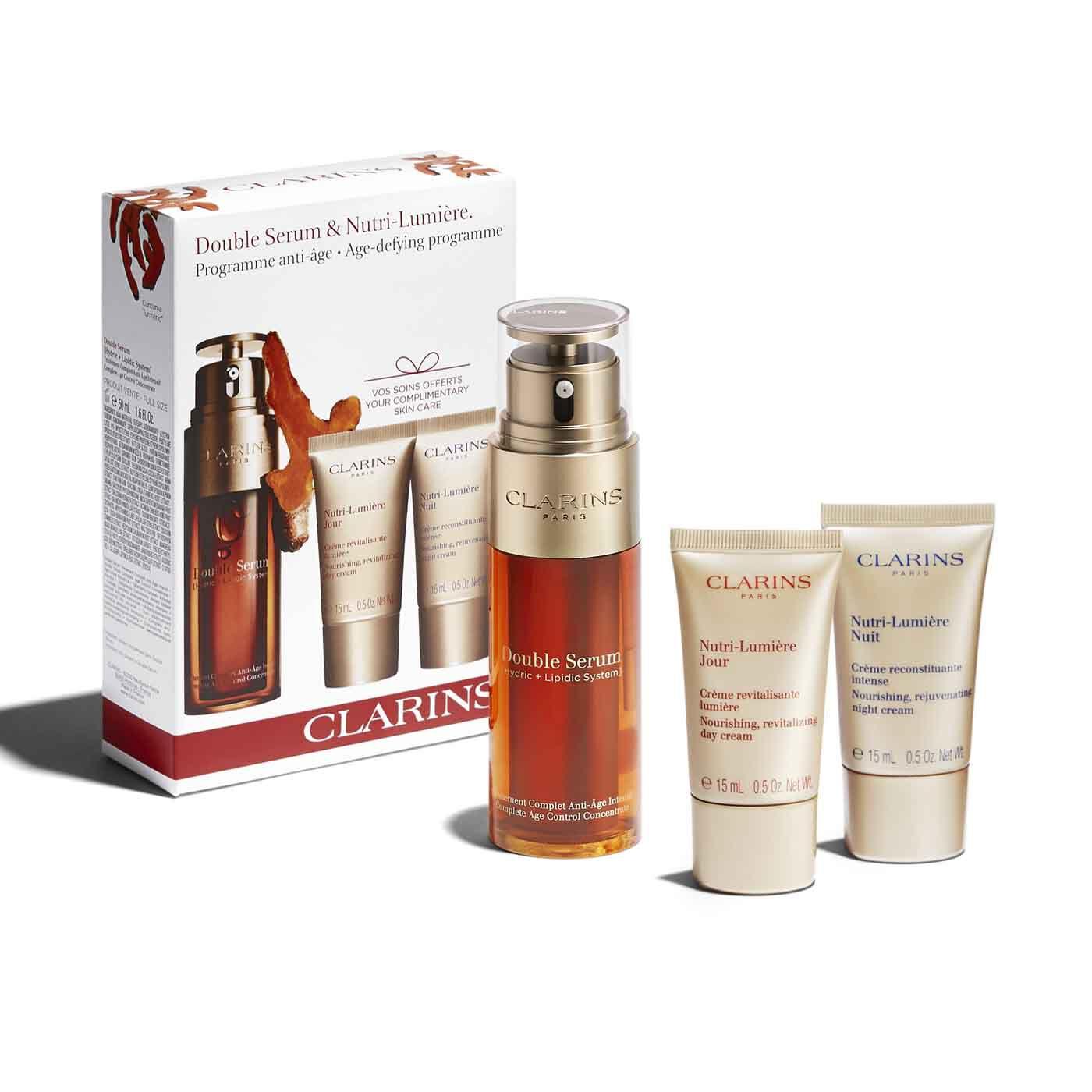 Gesichtspflege-Set Double Serum & Nutri-Lumière Anti-Age Pflege.