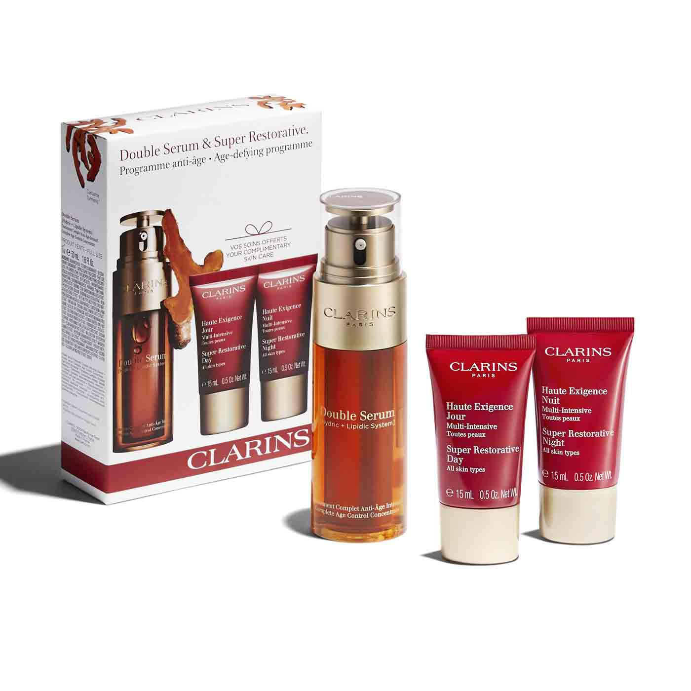 Gesichtspflege-Set Double Serum & Multi-Intensive Anti-Age Pflege.