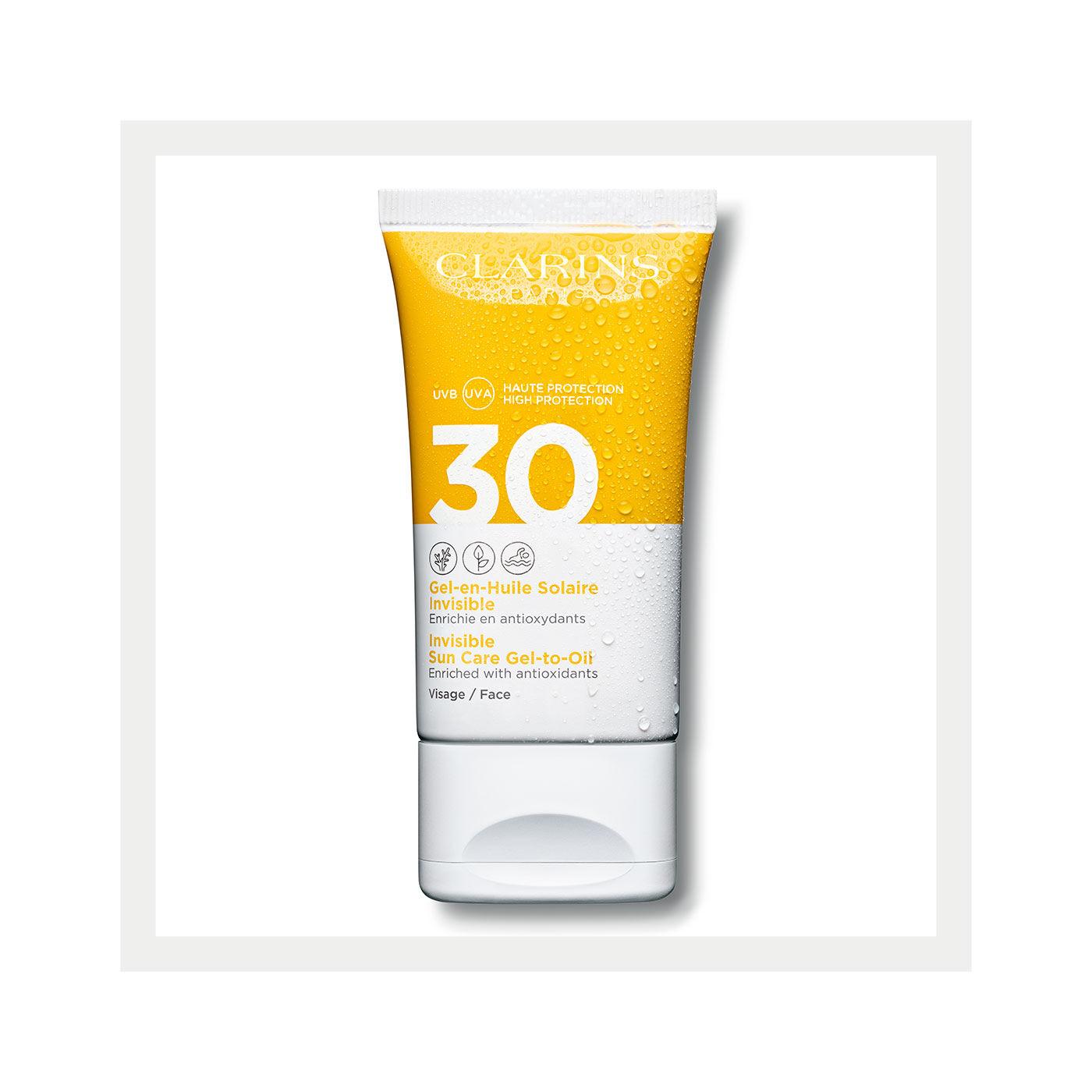Transparenter Öl-in-Gel Sonnenschutz für das Gesicht UVA/UVB 30