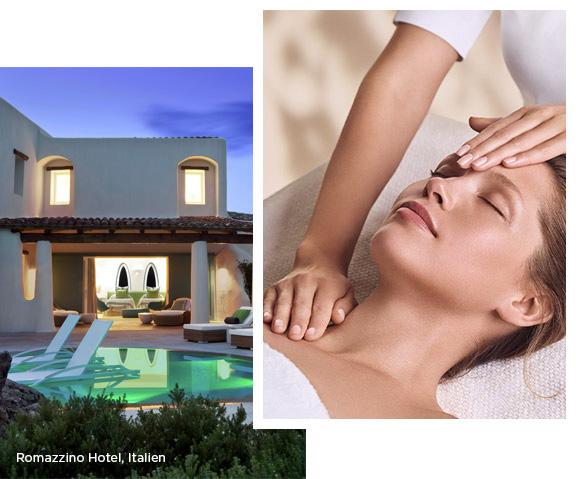 Clarins Kosmetikbehandlung - Impressionen aus einem spa by Clarins, Clarins Kosmetikbehandlung - Model während einer Gesichtspflegebehandlung