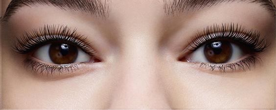 Mit und ohne 4D Mascara