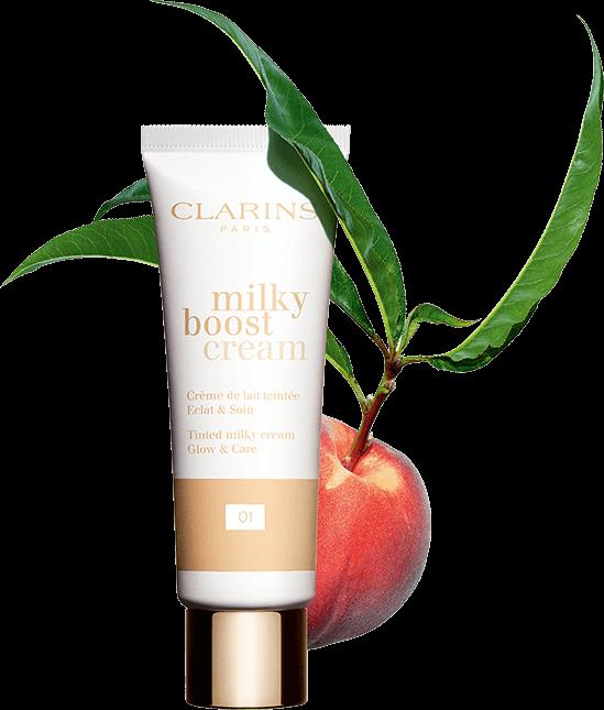 Packshot Milky Boost Cream com pêssego