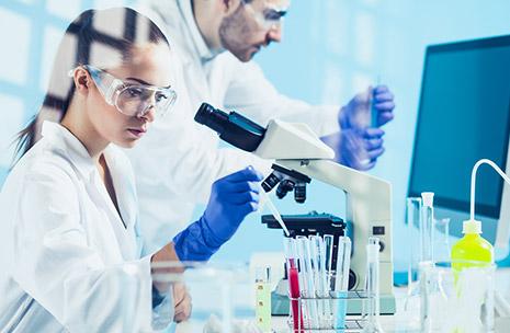 Abbildung von Wissenschaftlern im Labor
